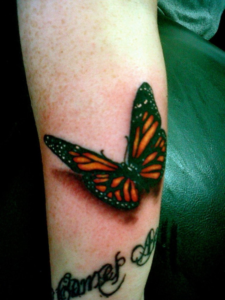 3d Tattoo Leg 3d-butterfly-tattoos-on-