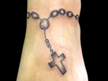 Black Rosary Wrist Cross Tattoo Tattoomagz