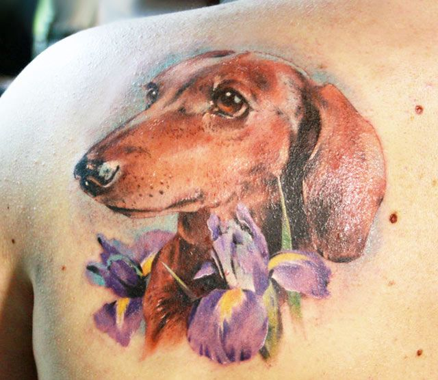 Bird dog tattoos