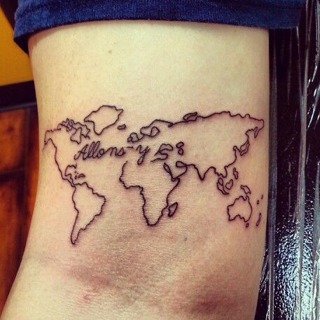 Great Map Tattoo Tattoomagz