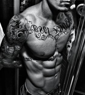 Hands men tattoo
