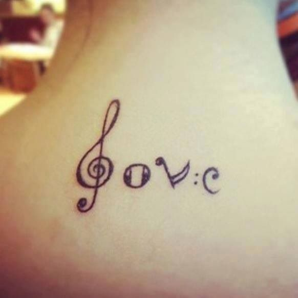 Tattoo Designs Related To Music: Love-music-tattoo