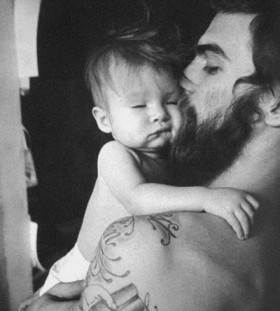 Lovely father and daughter tattoo