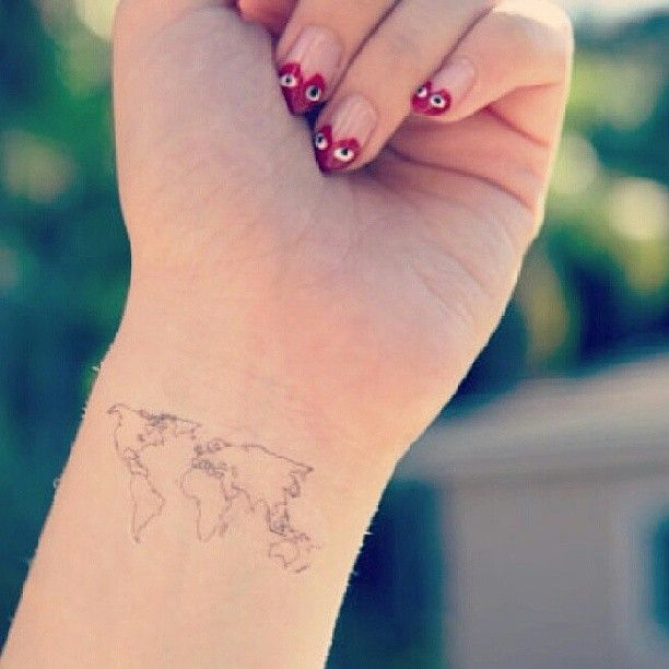 Lovely map tattoo tattoomagz lovely map tattoo gumiabroncs Image collections