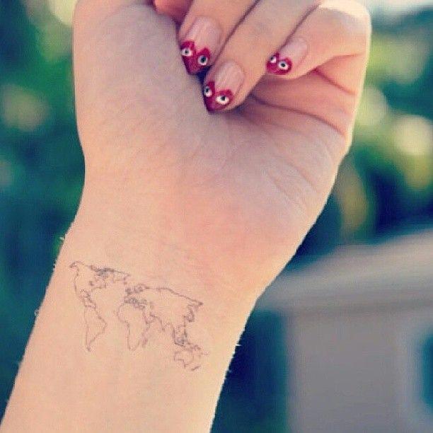 Lovely map tattoo tattoomagz lovely map tattoo gumiabroncs Choice Image