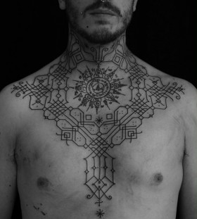 Man tattoo by Jean Philippe Burton