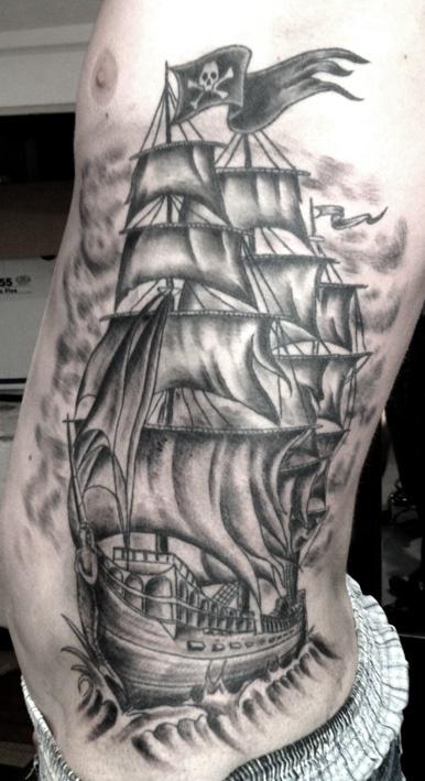 pirates ship tattoo tattoomagz. Black Bedroom Furniture Sets. Home Design Ideas