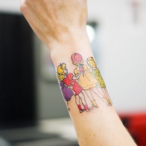 Younf girls vintage style tattoos - TattooMagz
