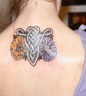 Colored flower with aries tattoomagz for Flowers for aries woman