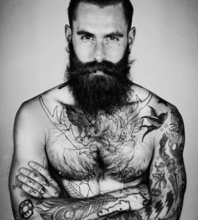 Awesome men's cool tattoo
