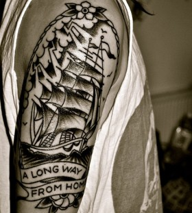 Awesome quote and ship tattoo