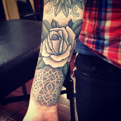 Black And White Rose Lotus Flower Tattoo Tattoomagz