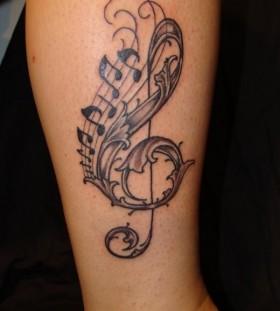 Black music style tattoo
