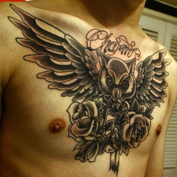 Cool owl wing tattoo - TattooMagz