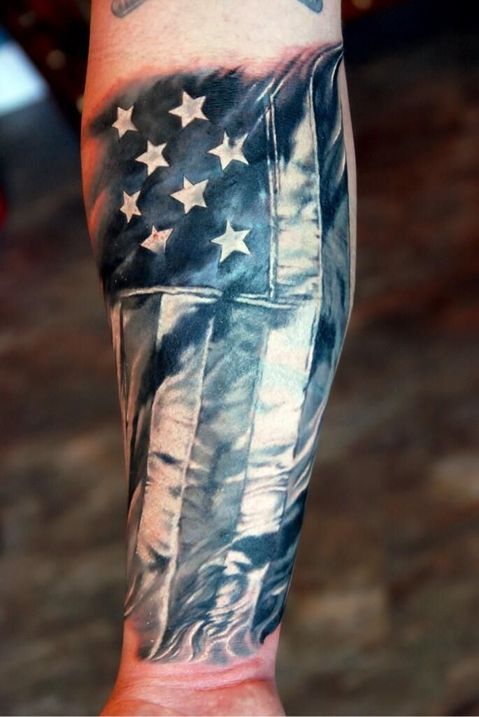 Star American Flag Tattoo Flag And Stars American Style