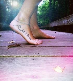 Foot music style tattoo