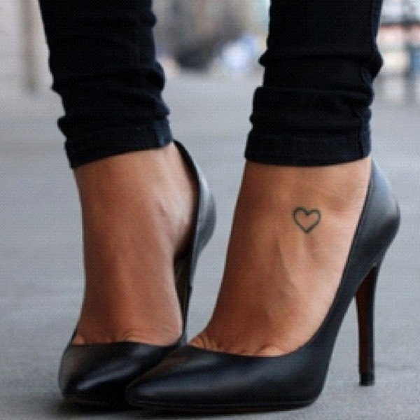 Heart awesome foot tattoo tattoomagz heart awesome foot tattoo urmus Images