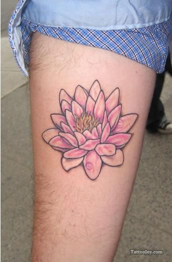 Pink Flower Tattoo: Small Pink Lotus Flower Tattoo