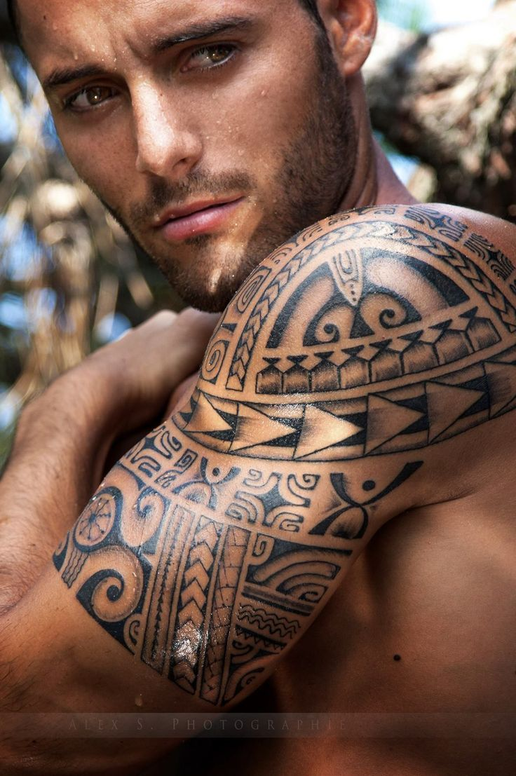 amazing eyes mens tribal tattoo  armjpg