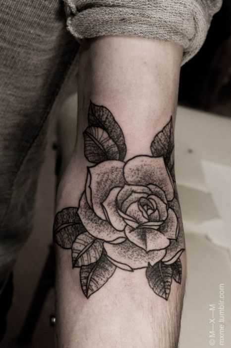 Black Cute Rose Tattoo On Arm Tattoomagz