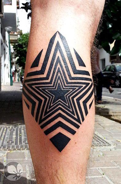 Black men star tattoo on leg tattoomagz for Star tattoos on leg