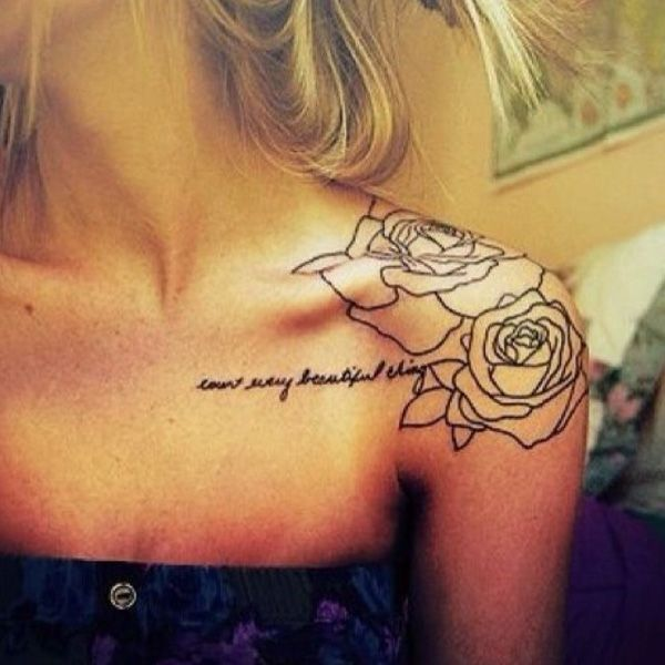 Black ornament rose tattoo on shoulder tattoomagz black ornament rose tattoo on shoulder mightylinksfo
