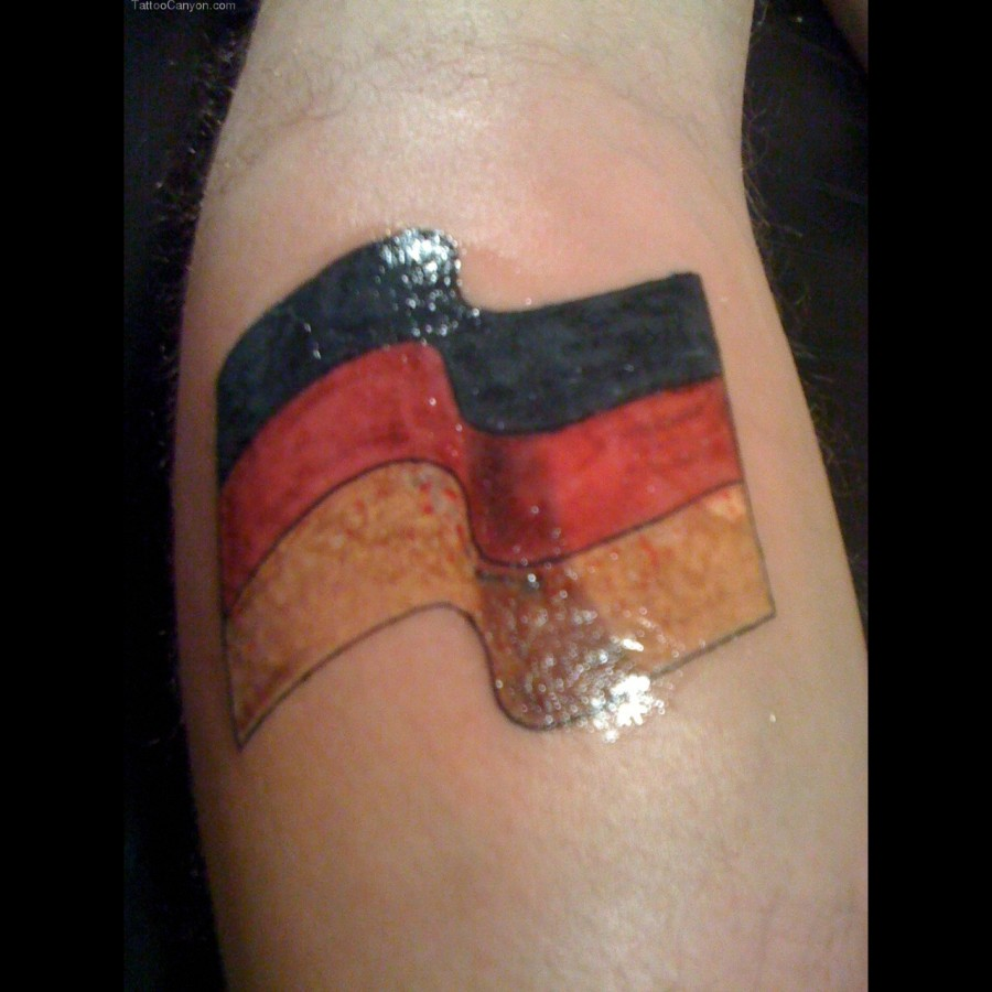 Great <b>tattoo</b> with <b>Germany</b> flag - TattooMagz