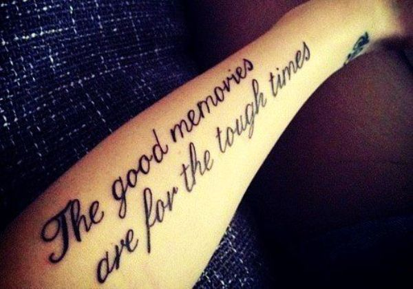 Motivational Black Quote Tattoo On Arm Tattoomagz