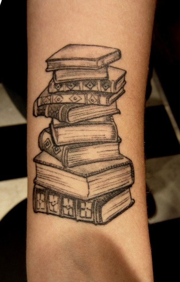 science source book tattoo on arm. Black Bedroom Furniture Sets. Home Design Ideas
