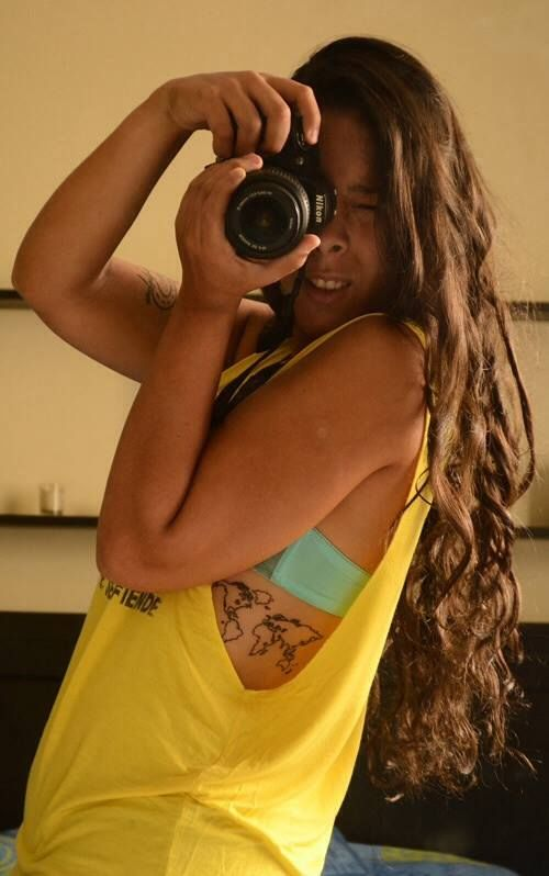 Womens camera and map tattoo on back tattoomagz womens camera and map tattoo on back gumiabroncs Gallery
