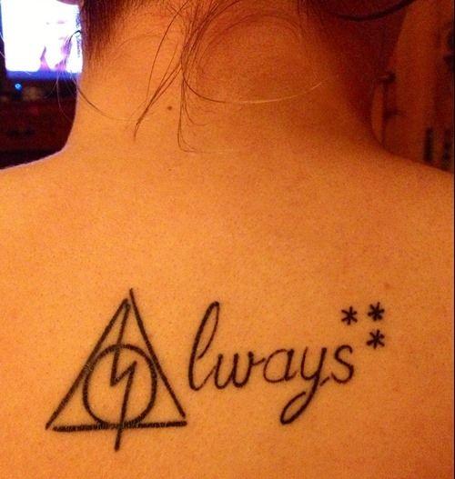 Accio Always Black Harry Potter Tattoo Tattoomagz