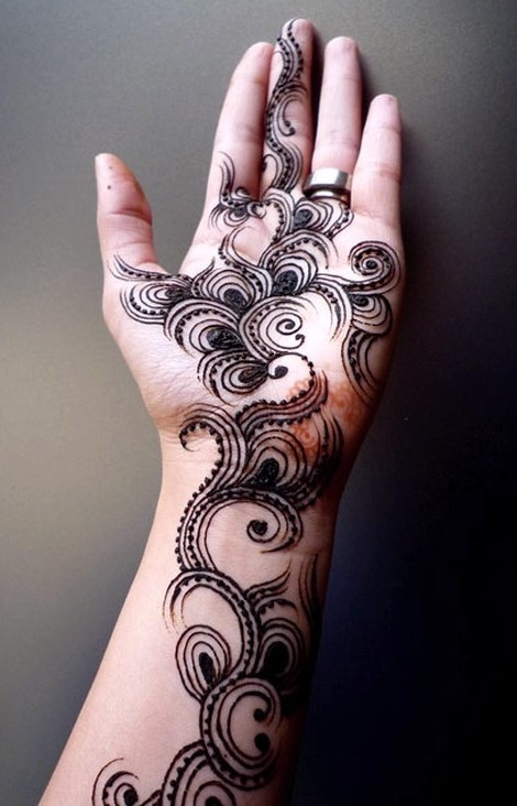 Henna Tattoo Ring Designs: Silver Ring And Henna And Mehndi Design Tattoo