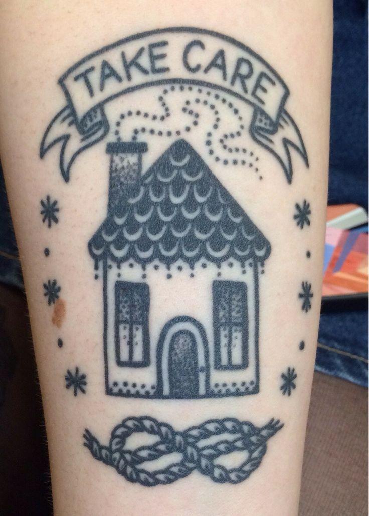 Simple black house tattoo tattoomagz for Minimalist house tattoo