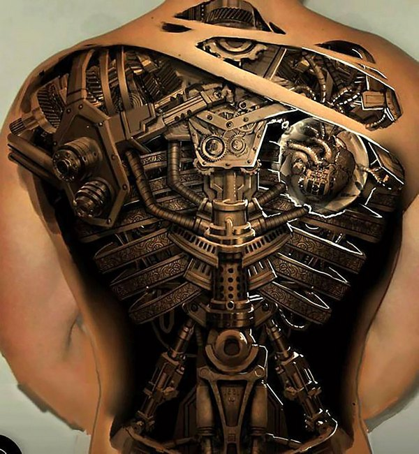 3D robot effect back piece