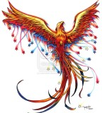 Phoenix Tattoo Sketch Design