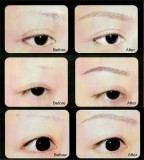 Awesome 3D Eyebrow Tattoo W Shape Design or Eyeliner Tattoo