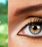 Best 3D Eyebrow Tattoo with Gold Eyes for Women