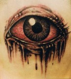 Eyes 3d Tattoos Design