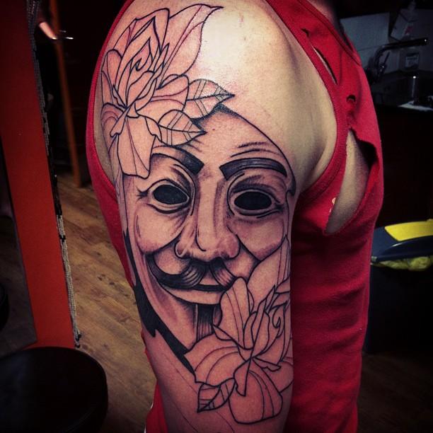 V for Vendetta tattoos  V For Vendetta Tattoo Tumblr