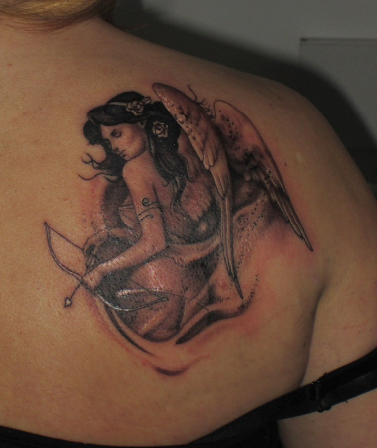 Bow And Arrow Tattoo Designs Images