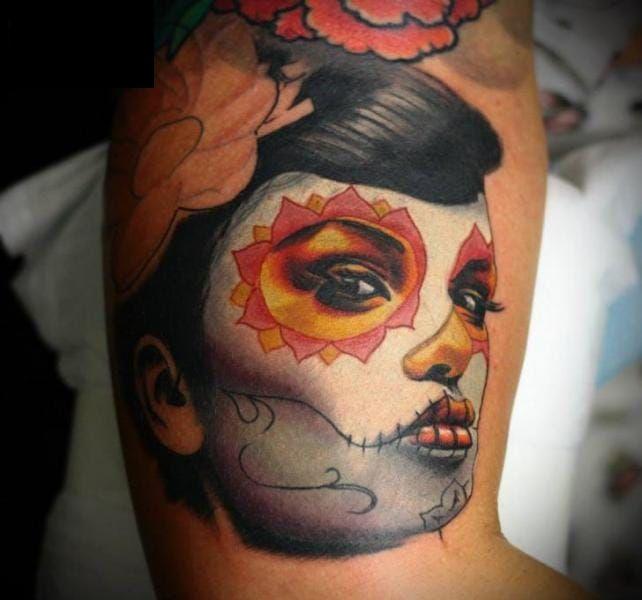 Asian-style-Santa-Muerte-tattoo