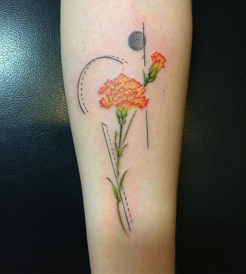 carnation tattoo by lucylululu