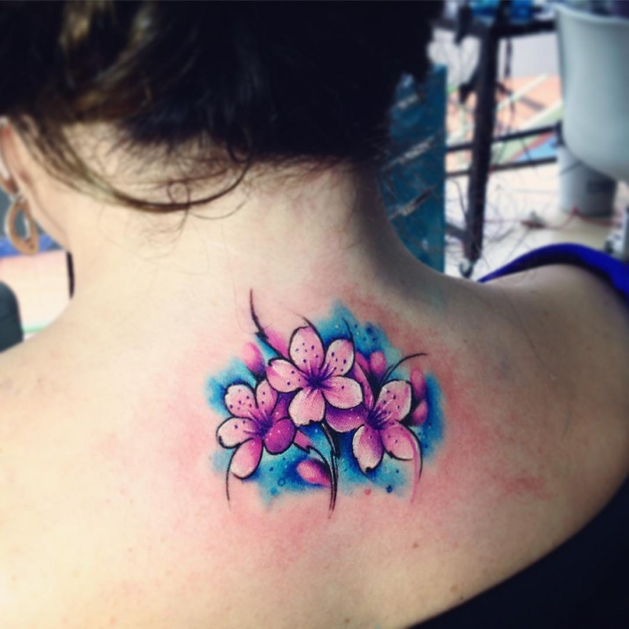 cherry-blossom-watercolor-tattoo