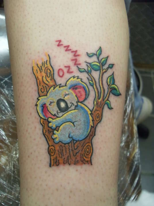 Coloured Koala Bear Tattoo Tattoomagz
