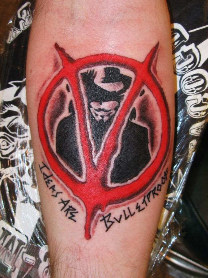 cool v for vendetta arm tattoo tattoomagz. Black Bedroom Furniture Sets. Home Design Ideas