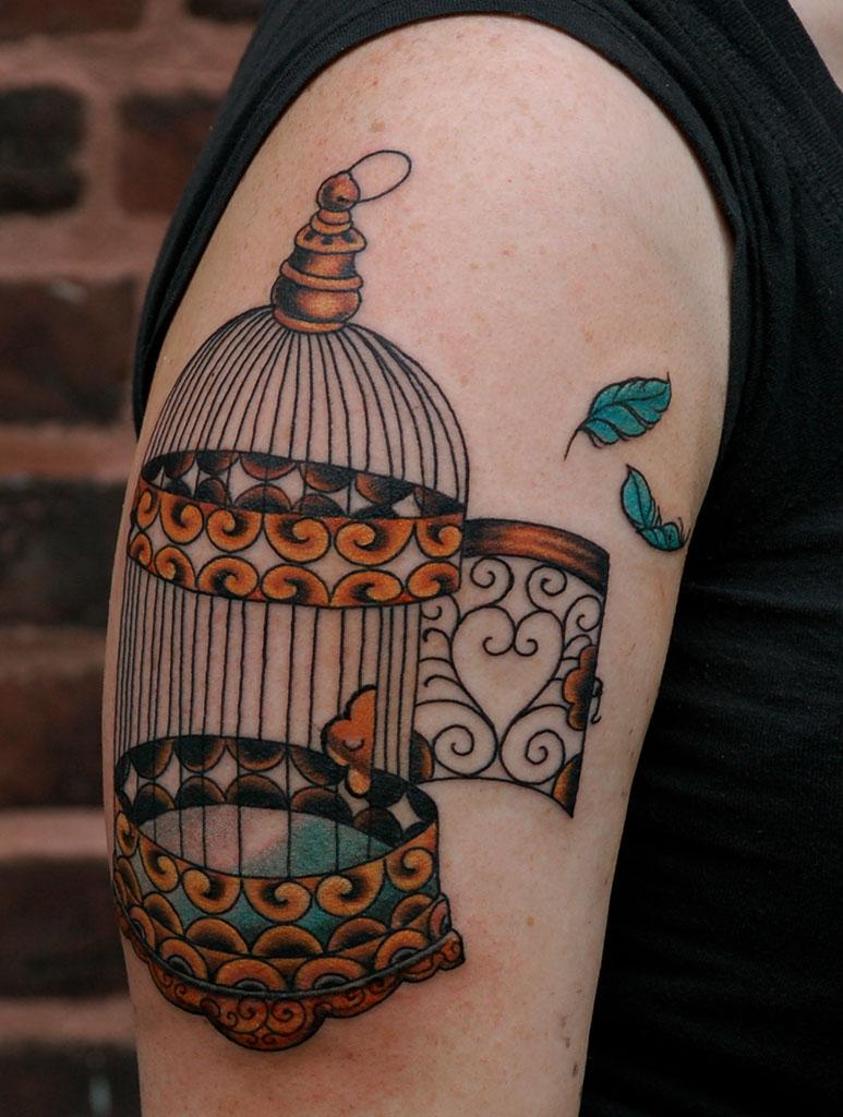 Cool Birdcage Tattoo Design Tattoomagz