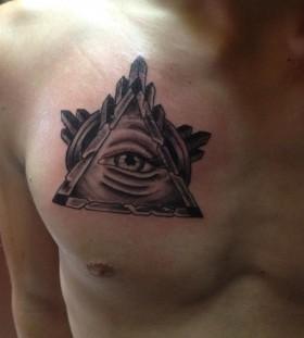 Sweet triangle eye hand tattoo tattoomagz for Sweet chest tattoos