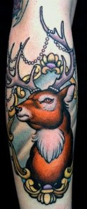 Deer frame tattoo by W. T. Norbert