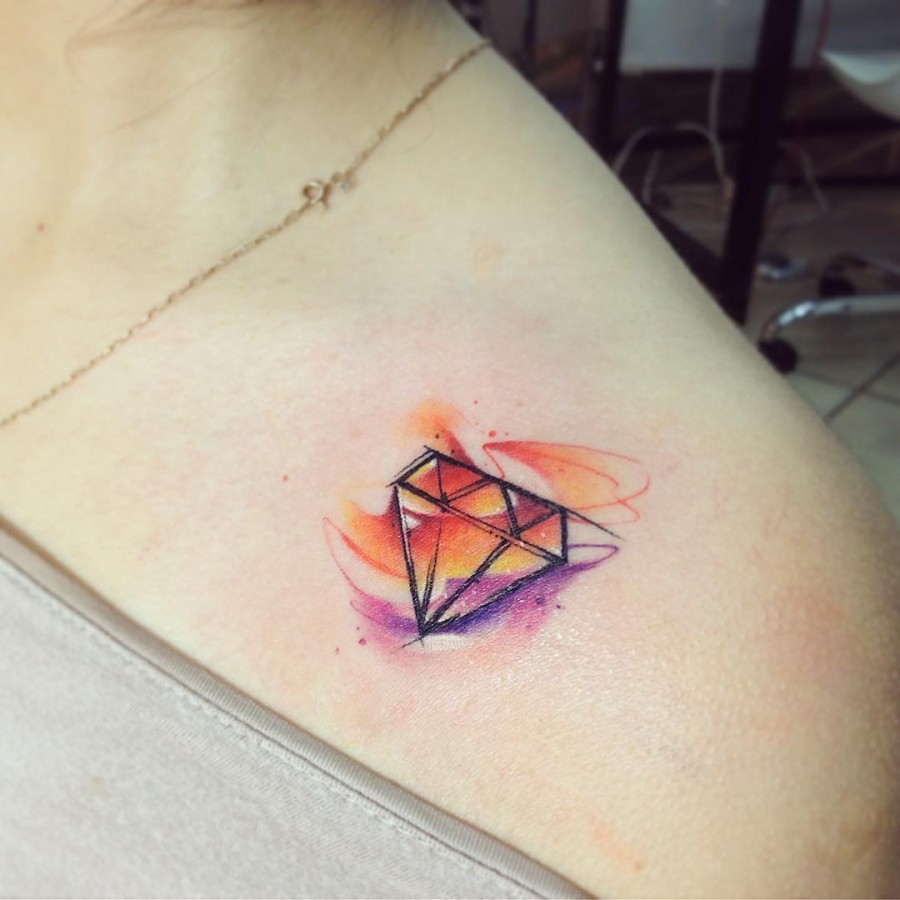 diamond-watercolor-tattoo