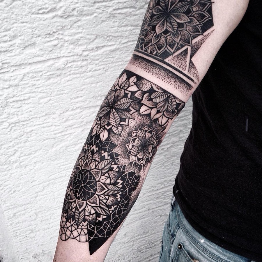 69 spectacular mandala sleeve tattoos tattoomagz. Black Bedroom Furniture Sets. Home Design Ideas
